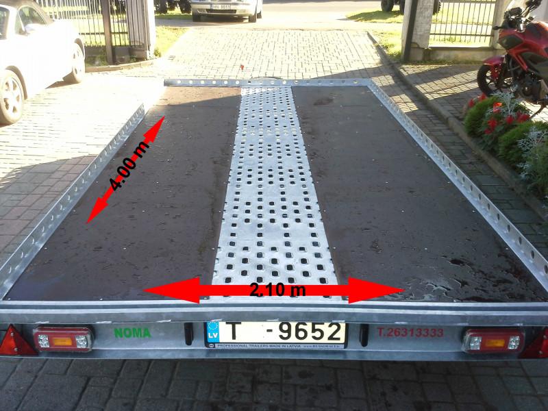 RB 1108 Piekabe platforma Kvadru 3 vietas